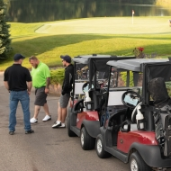 Golfers participating in the BWL Golf 4 Charity event.